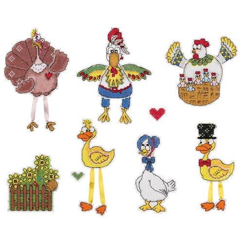 Набор для вышивания IG-1849 ( ИГ-1849 ) Птичий двор , PANNA, Наборы для вышивания  - купить со скидкой