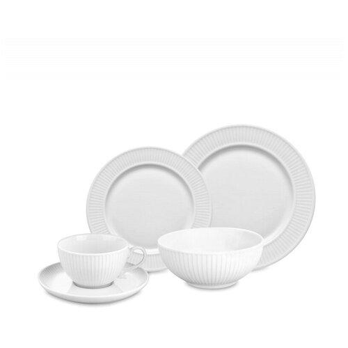 Набор обеденный на 4 персоны, 16 предметов, цвет белый, фарфор, Pillivuyt, 994207BX1 стол laredoute обеденный круглый на 4 персоны authentic style 4 персоны белый