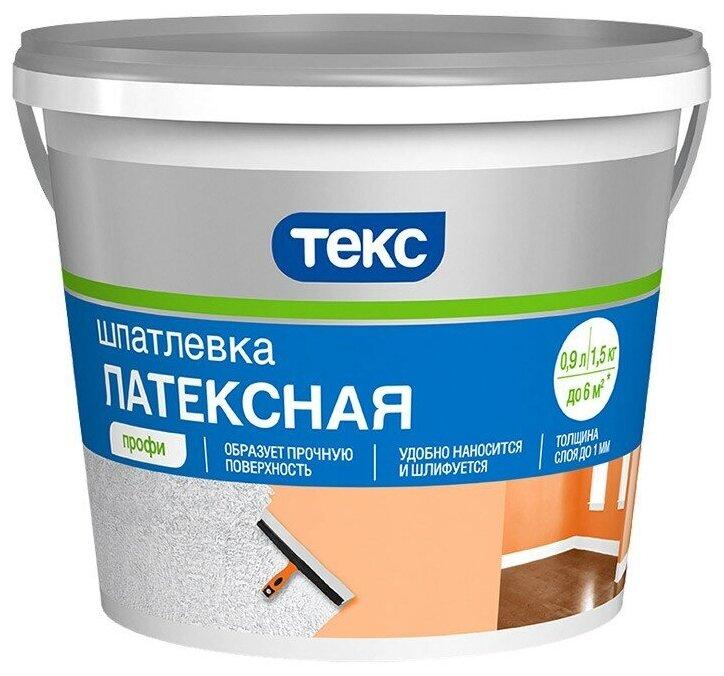 Шпатлевка ТЕКС латексная Профи — купить по выгодной цене на Яндекс.Маркете