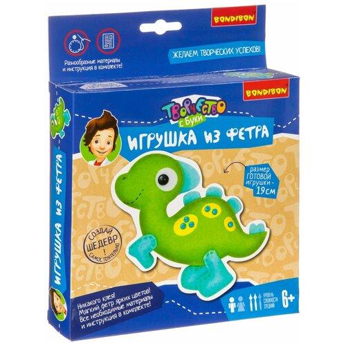 Купить BONDIBON Набор для шитья игрушки из фетра Динозаврик (ВВ3806), Изготовление кукол и игрушек