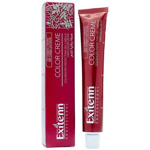 Exitenn Color Creme Крем-краска для волос, 7.1 Rubio Medio Ceniza, 60 мл exitenn color creme крем краска для волос 773 rubio medio canela 60 мл