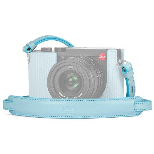 Ремень Leica кожаный плечевой для Leica Q2, голубой