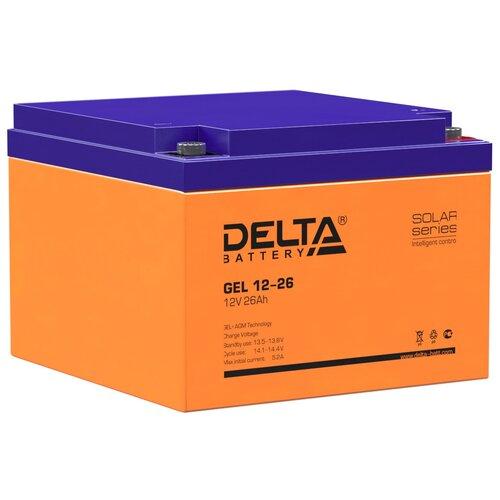 Аккумуляторная батарея Delta GEL 12-26 (12V / 26Ah) аккумулятор delta battery gel 12 55
