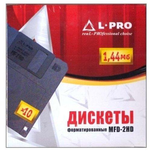 Дискеты форматированные 3.5 дюйма HD 1.44 Мб L-Pro, в картонной коробке 10 шт.