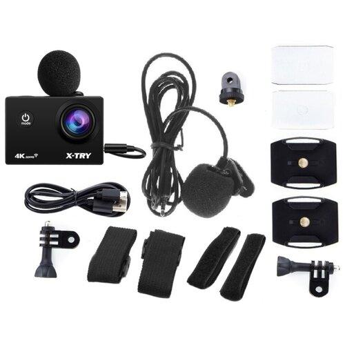 Фото - Экшн-камера X-TRY XTC184 EMR Acces Kit 4K WiFi экшн камера r wings air 4k wifi rwc001