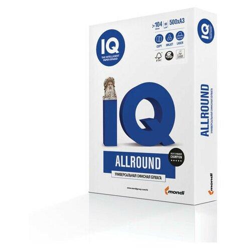Бумага офисная А4, 80 г/м2, 500 л., марка В, IQ ALLROUND, Россия, 162% (CIE) 110700