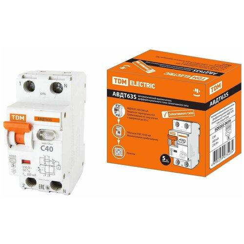Фото - Автоматический Выключатель Дифференциального тока селективного типа АВДТ 63S 2P(1P+N) C40 300мА 6кА тип А TDM автоматический выключатель дифференциального тока tdm electric sq0202 0006 авдт 63 c40 30 ма