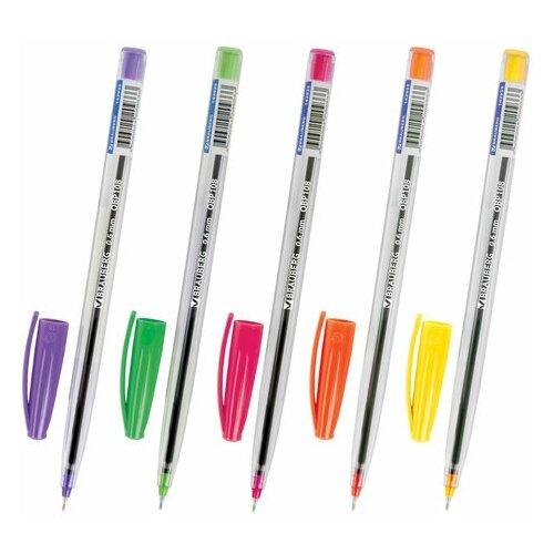 Купить Ручка шариковая Brauberg Ice (0.3мм, масляная основа, синий цвет чернил, цветная отделка) 50шт. (OBP108), Ручки