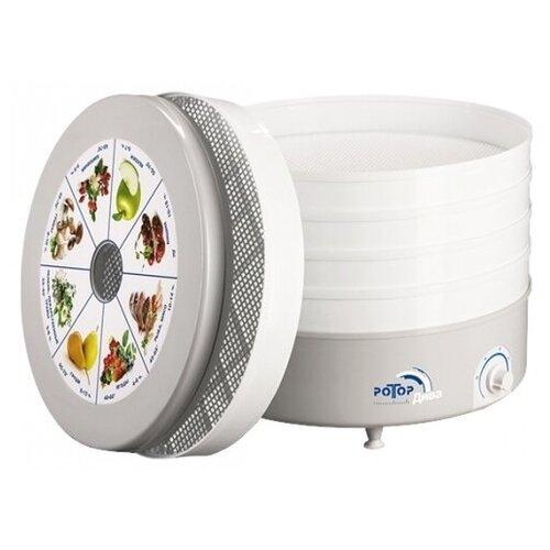 Сушилка для овощей и фруктов Ротор Дива СШ-007-06, 5 поддонов, белый