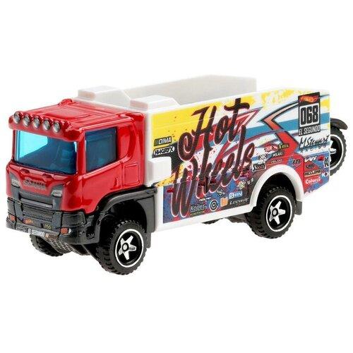 Mattel Hot Wheels BFM60 Трейлер Сканиа Ралли Трак GRV11 машинка mattel hot wheels трейлер с прицепом