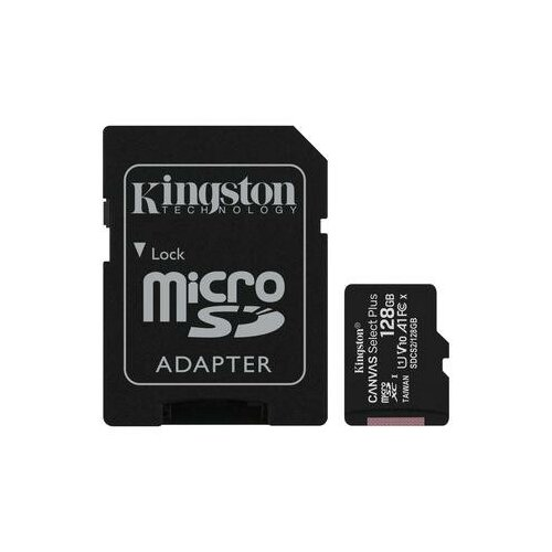 Фото - Карта памяти 128 ГБ microSDXC Kingston Canvas Select Plus Class 10 UHS-I (SDCS2/128GB) карта памяти 512gb kingston canvas select plus microsdxc u