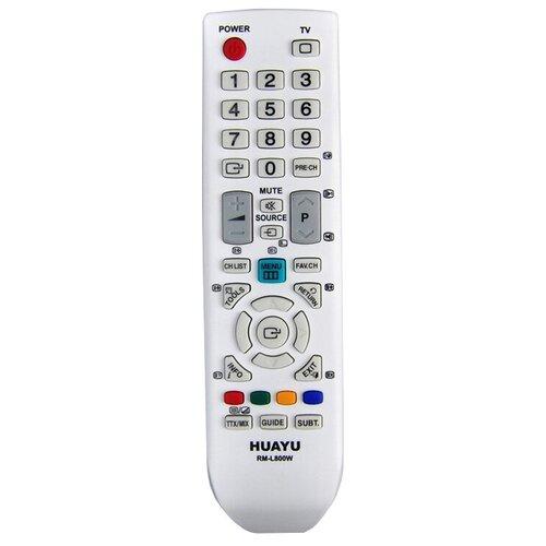 Фото - Пульт ДУ Huayu RM-L800 для телевизоров Samsung, белый пульт huayu rm 016fc универсальный для телевизоров samsung
