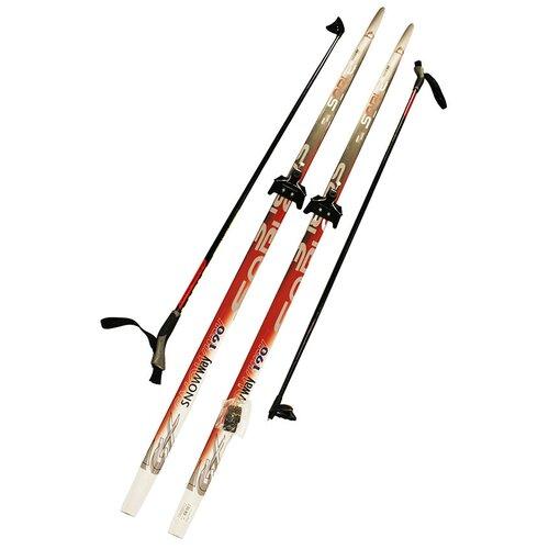 Лыжный комплект (лыжи + палки + крепления) 75 мм 190 СТЕП, Sable snowway red