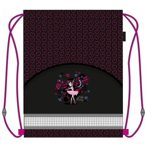 MagTaller Мешок для обуви Ballerina 31916-08, черный/розовый недорого