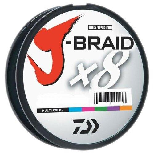 Плетеный шнур DAIWA J-Braid X8 мультиколор 0.42 мм 300 м 46.5 кг плетеный шнур daiwa j braid x8 зеленый 0 24 мм 300 м 18 кг