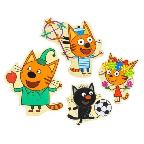 Пазлы Alatoys Набор деревянных пазлов Три кота пзл22 набор пазлов проф пресс математические пазлы три кота фиолетовый конверт 28995 0