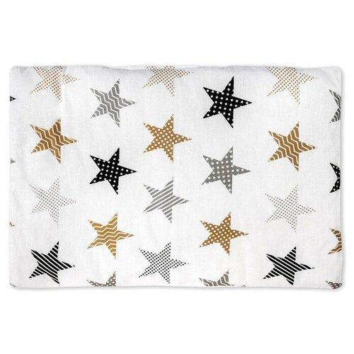 сонный гномик подушка анатомическая для младенцев жираф и черепаха 27 х 25 см Подушка Сонный Гномик Бамбук 555Б 60х40 см белый со звёздами