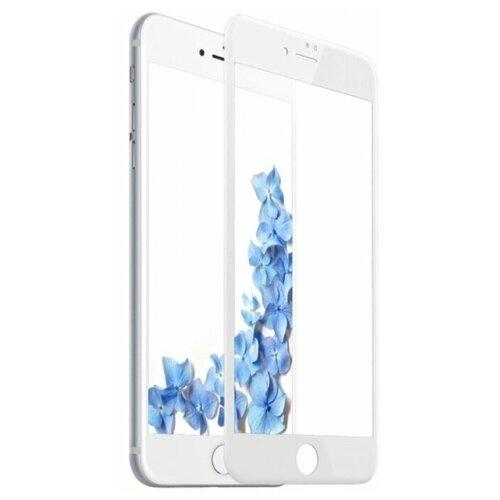Полноэкранное защитное стекло для телефона Apple iPhone 7, iPhone 8 и iPhone SE 2020г / Ударопрочное стекло на смартфон Эпл Айфон 7, Айфон 8 и Айфон СЕ 2020г / Закаленное стекло с олеофобным покрытием на весь экран / Full Glue Premium Glass от 3D до 21D (Белый)