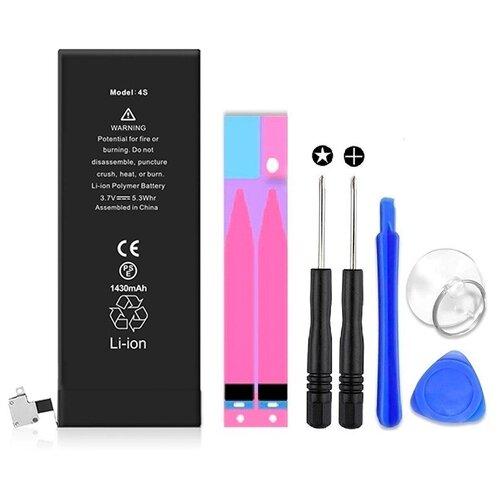 Аккумулятор для iPhone 4S (1430mAh) Wewo + набор инструментов для самостоятельной замены