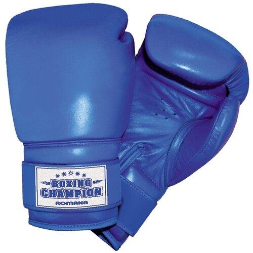 Боксерские перчатки ROMANA ДМФ-МК-01.70 синий 8 oz