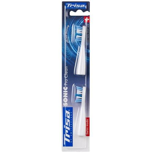 Сменные насадки для электрических зубных щеток Trisa Sonic, 2 шт.(681083-White)