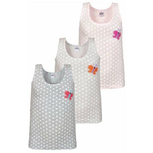 Купить Майка BAYKAR 3 шт., размер 170/176, светло-серый/серый/розовый, Белье и купальники