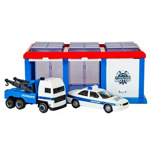 Фото - Пламенный мотор Полиция ДПС 870273, голубой/красный/белый эвакуатор пламенный мотор 870364 13 см белый