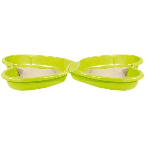Песочница-бассейн Smoby Бабочка 310143, 111х167 см, зеленый