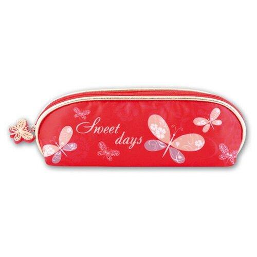 Купить Феникс+ Пенал-косметичка Бабочки на красном (39374), красный, Пеналы