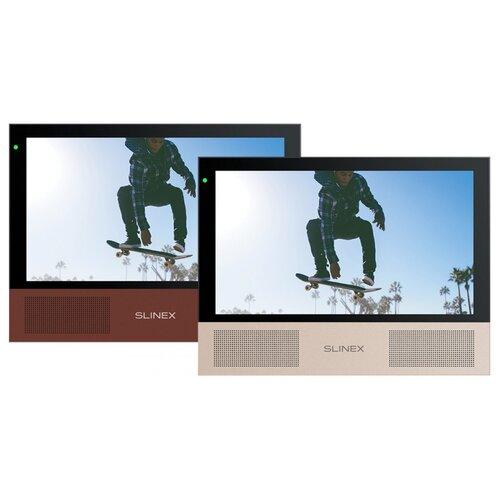 Видеодомофон Slinex Sonik 7 Black-Rose Gold/Marsala