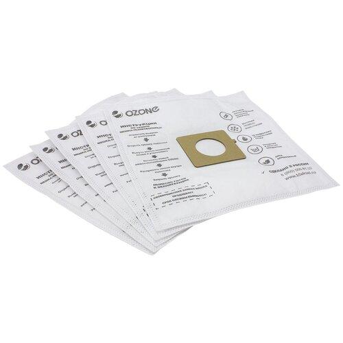 Мешки-пылесборники Ozone синтетические 5 шт для пылесоса LG V-C3942 (M-07-M0106)