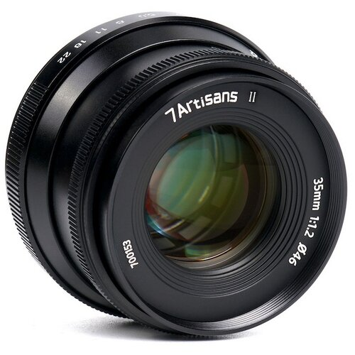 Фото - Объектив 7artisans 35mm F1.2 II E-mount черный объектив 7artisans e mount 35 mm f 2 0 17979