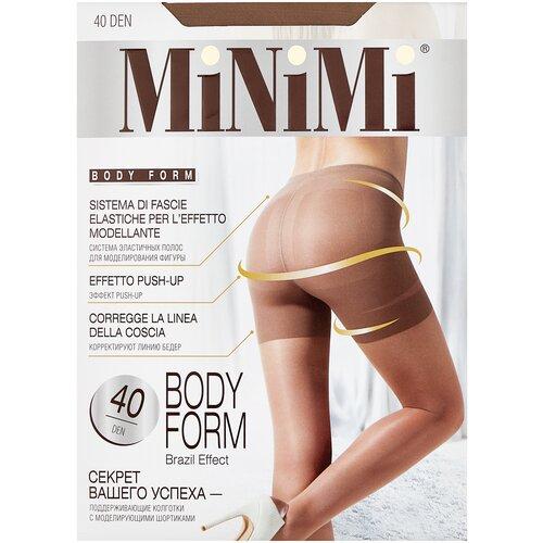 Фото - Колготки MiNiMi Body Form, 40 den, размер 3-M, daino (бежевый) колготки minimi slim control 40 den размер 3 m daino бежевый