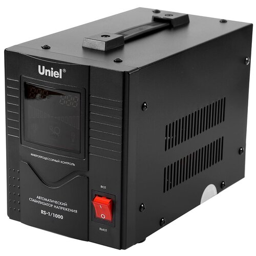 Стабилизатор напряжения однофазный Uniel RS-1/1000 черный