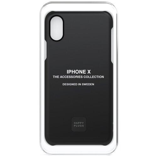 Фото - Чехол-накладка Happy Plugs 9167 + защитная пленка для Apple iPhone X/Xs black клип кейс happy plugs для apple iphone xs black marble черный мрамор