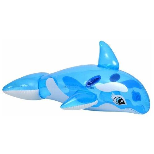 Фото - Надувная игрушка-наездник Intex Касатка 58523 синий/белый игрушка наездник надувная intex черепаха с ручками intex 191х170 от 3 лет 57555