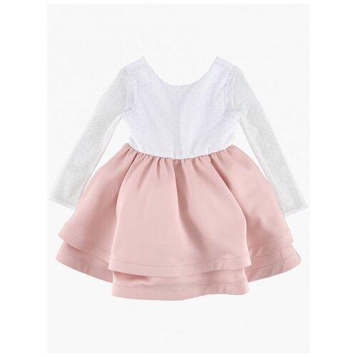 Платье Mini Maxi размер 104, белый/розовый платье modis размер 104 белый
