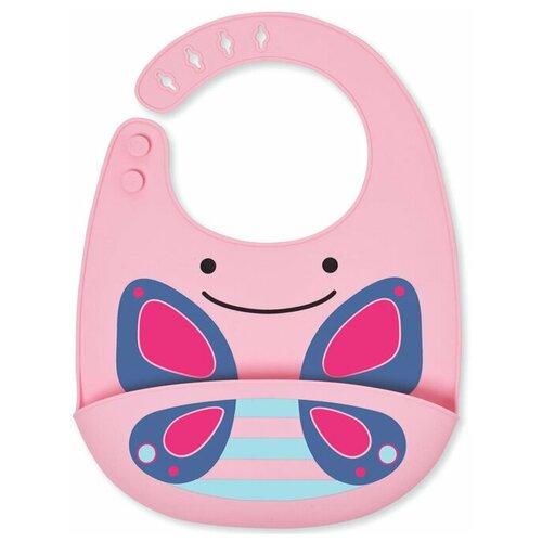 Купить SKIP HOP Силиконовый нагрудник, бабочка/розовый/синий, Нагрудники и слюнявчики