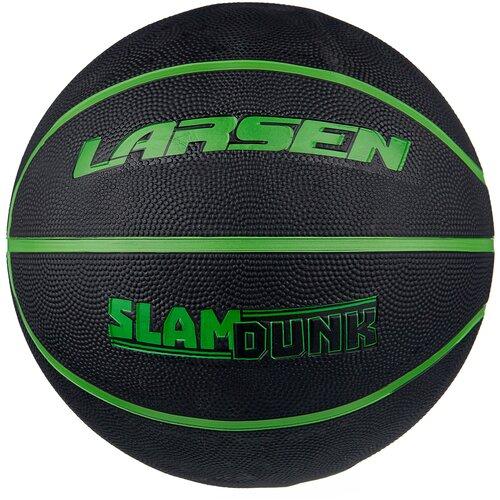 Баскетбольный мяч Larsen Slam Dunk, р. 7 черный/зеленый баскетбольный мяч larsen pu6 р 6