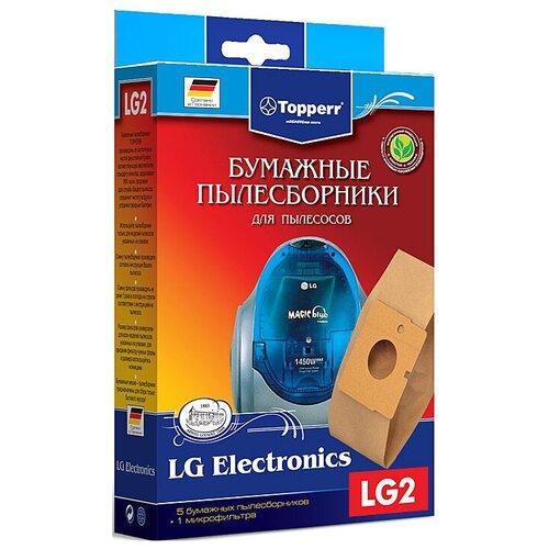 Фото - Topperr Бумажные пылесборники LG2 5 шт. пылесборники topperr dw 5 5пылесбор микрофильтр