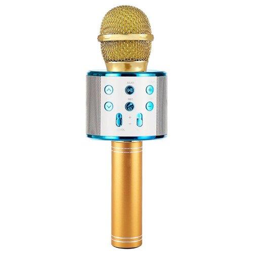 Беспроводной караоке-микрофон WS-858 (морское золото)