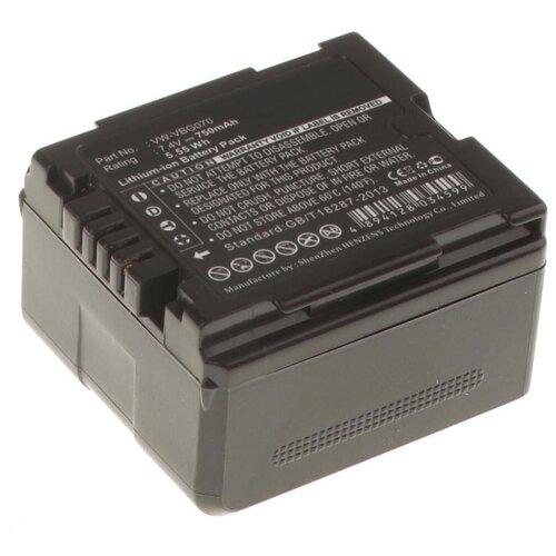 Аккумулятор iBatt iB-B1-F377 750mAh для Panasonic VW-VBG6, VW-VBG260, VW-VBG070A, VW-VBG130, VW-VBG070, VW-VBG260E-K, VW-VBG260-K, VW-VBG130E-K,
