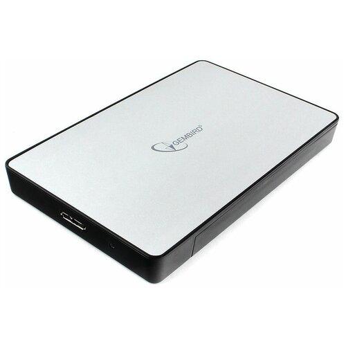 """Внешний корпус 2.5"""" Gembird EE2-U3S-31P серебро USB 3.0 SATA пластик/металл"""