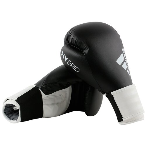 Боксерские перчатки adidas Hybrid 100 черный/белый 14 oz