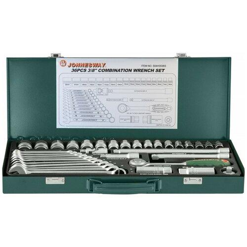 Набор автомобильных инструментов JONNESWAY S04H3536S, 36 предм.