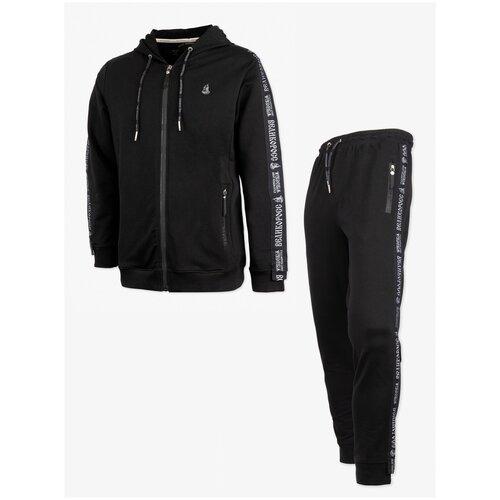 Спортивный костюм Великоросс чёрного цвета Без принта размер 52