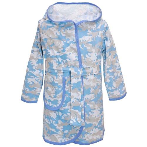 Халат KotMarKot размер 92, голубой, Домашняя одежда  - купить со скидкой