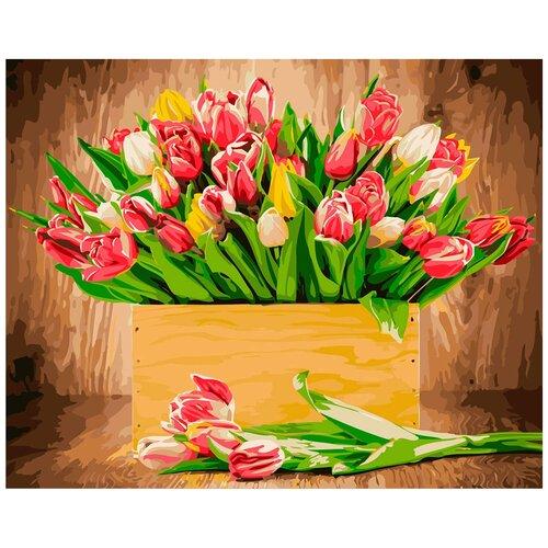 Купить Картина по номерам ФРЕЯ Тюльпаны 40х50 см, Картины по номерам и контурам