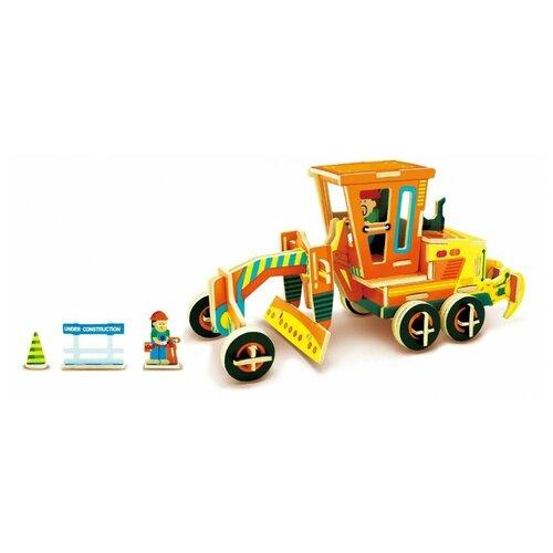 3D деревянный пазл Robotime Строительная техника - Грейдер