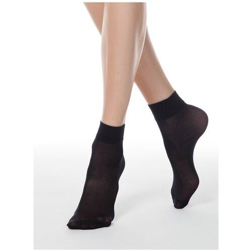 Капроновые носки Conte Elegant Solo 40 den, 2 пары, размер 23-25, nero